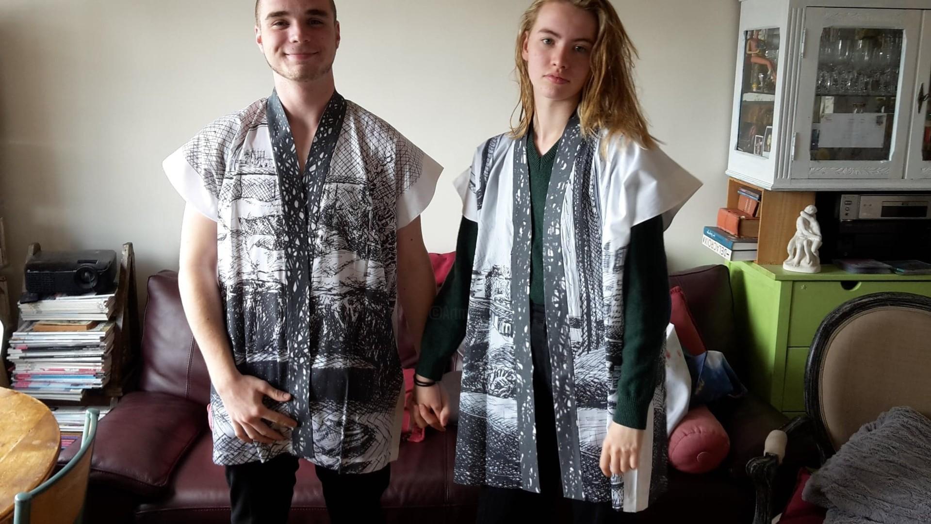"""Marie Désert - Kimonos de la série """" Alchimie artistique """""""